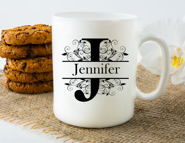 Image of Personalised Mug - Split Letter