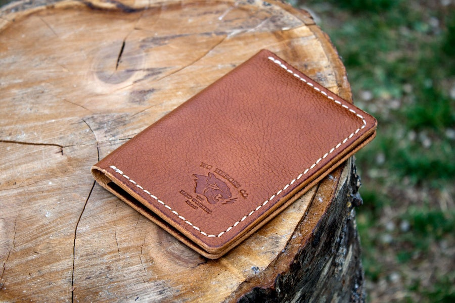 "Image of Drifter — ""Antique Saddle"" Italian Cowhide Leather Passport/Notebook Wallet"