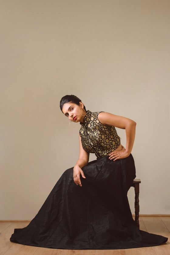 Image of Sophia - Lengha & Blouse (Black)