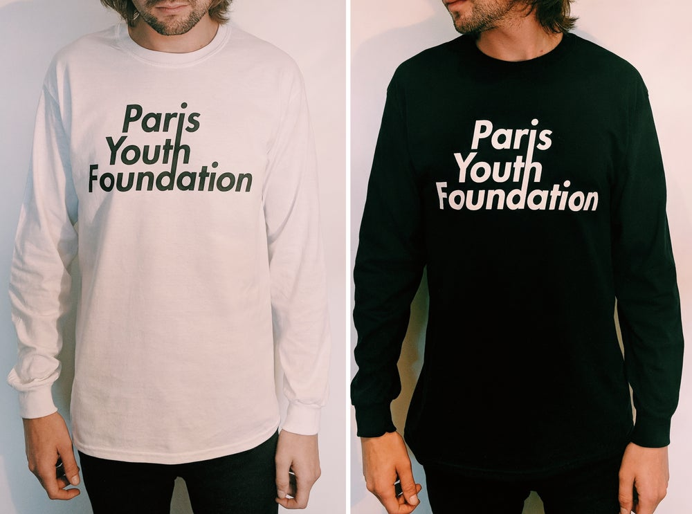 Image of PARIS YOUTH FOUNDATION LOGO LONG SLEEVE TEE