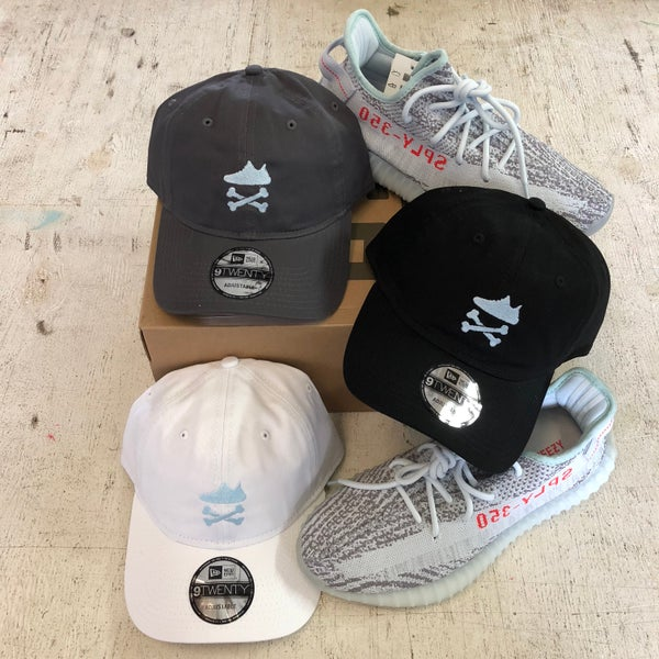 "Image of YEEZY CROSSBONES EMBROIDERY ""BLUE TINT"" DAD HAT"