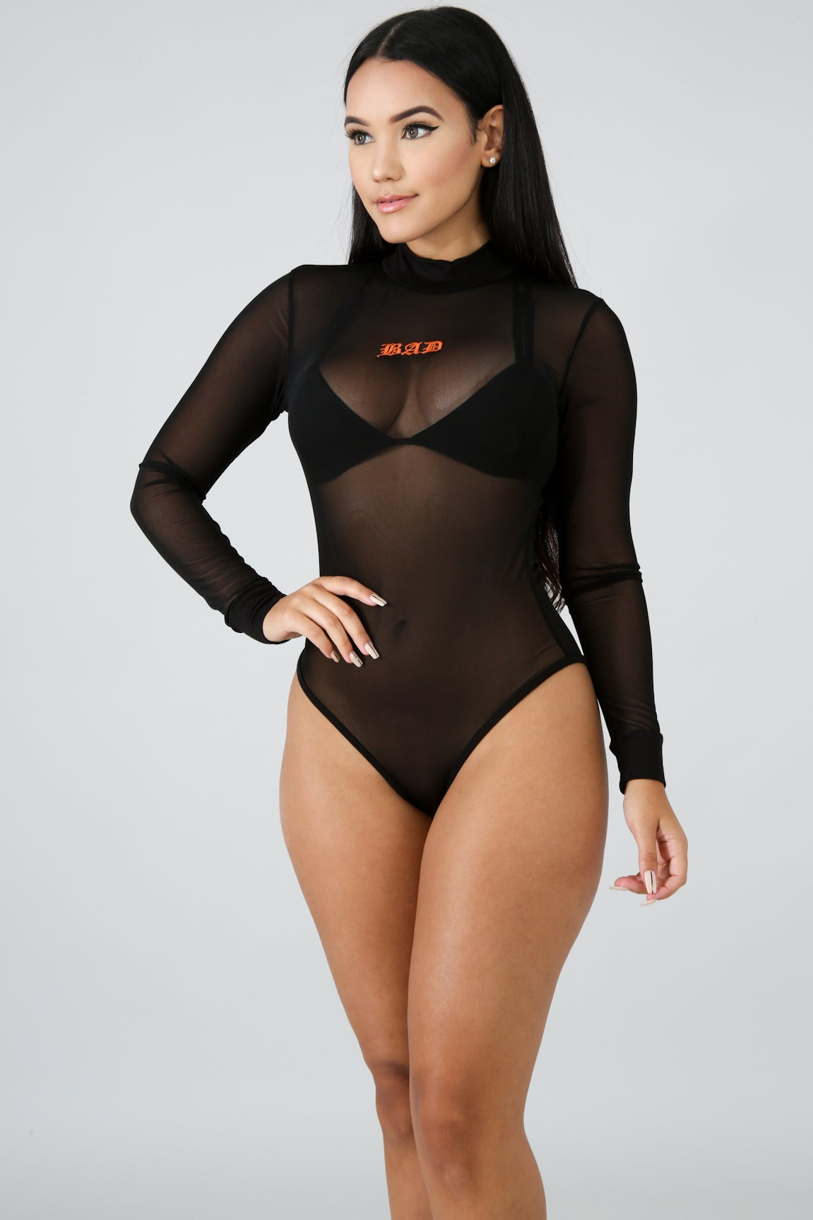 "Image of ""Bad"" See Through Bodysuit"