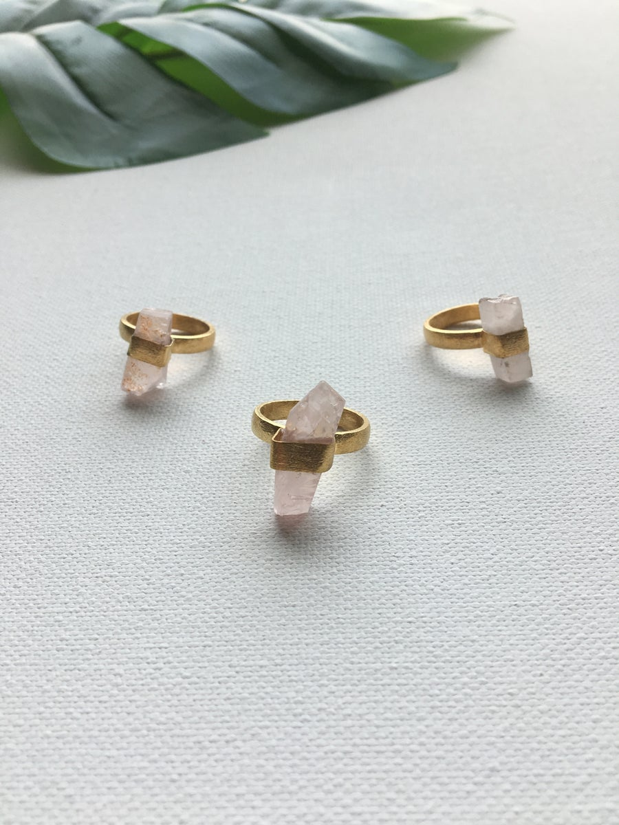 Image of SIRIUS Bullets (LITE) • Rose Quartz Rings