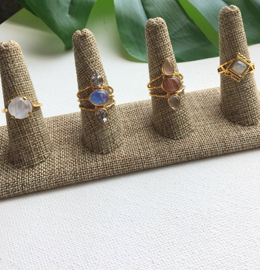 Image of REBELLE (LITE) Crystal Rings