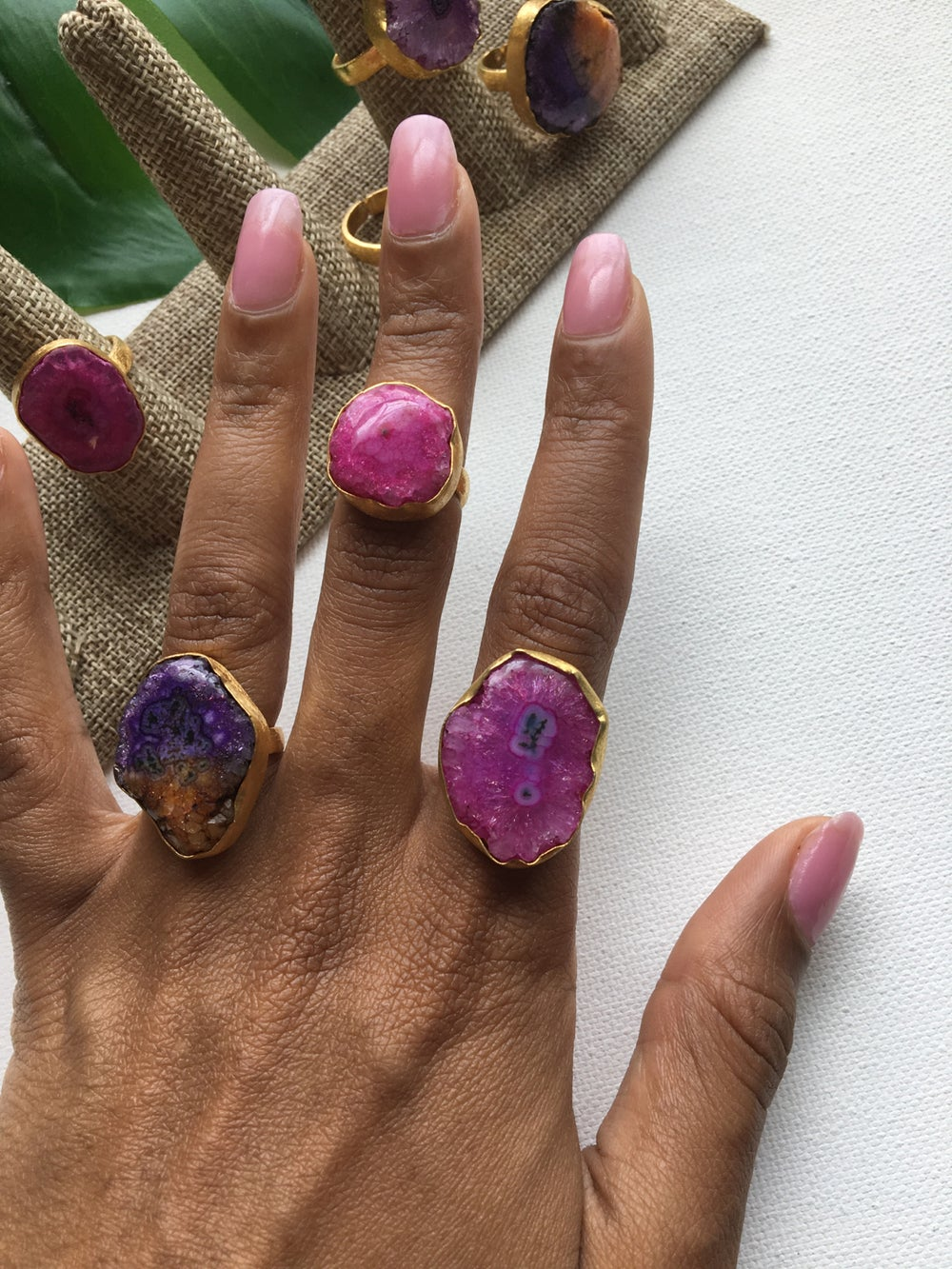 Image of SUNSHOWER Solar Druzy Crystal Ring
