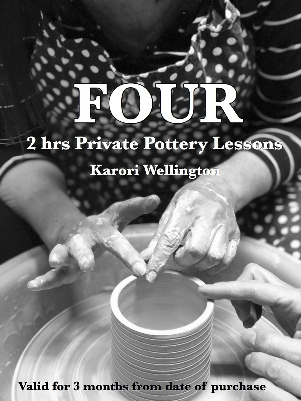 Image of FOUR HOURS PRIVATE POTTERY LESSONS