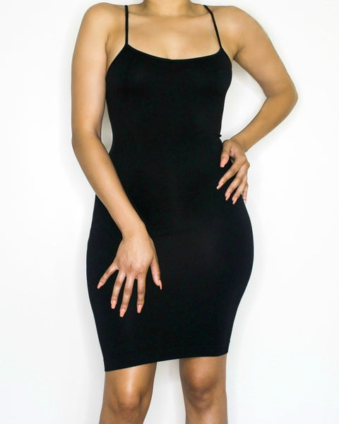 Image of the barely there dress - black