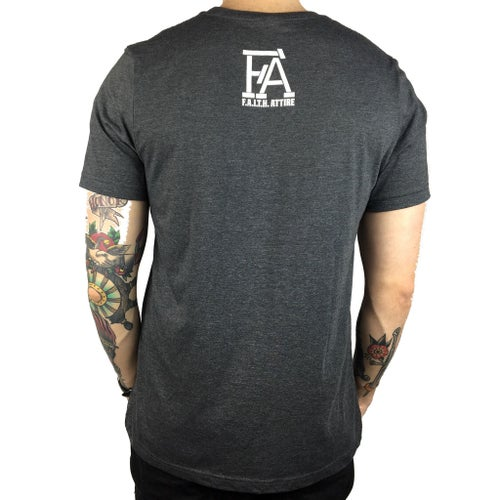 "Image of ""Stay Thoughtful"" Dark Heather Grey Tee"