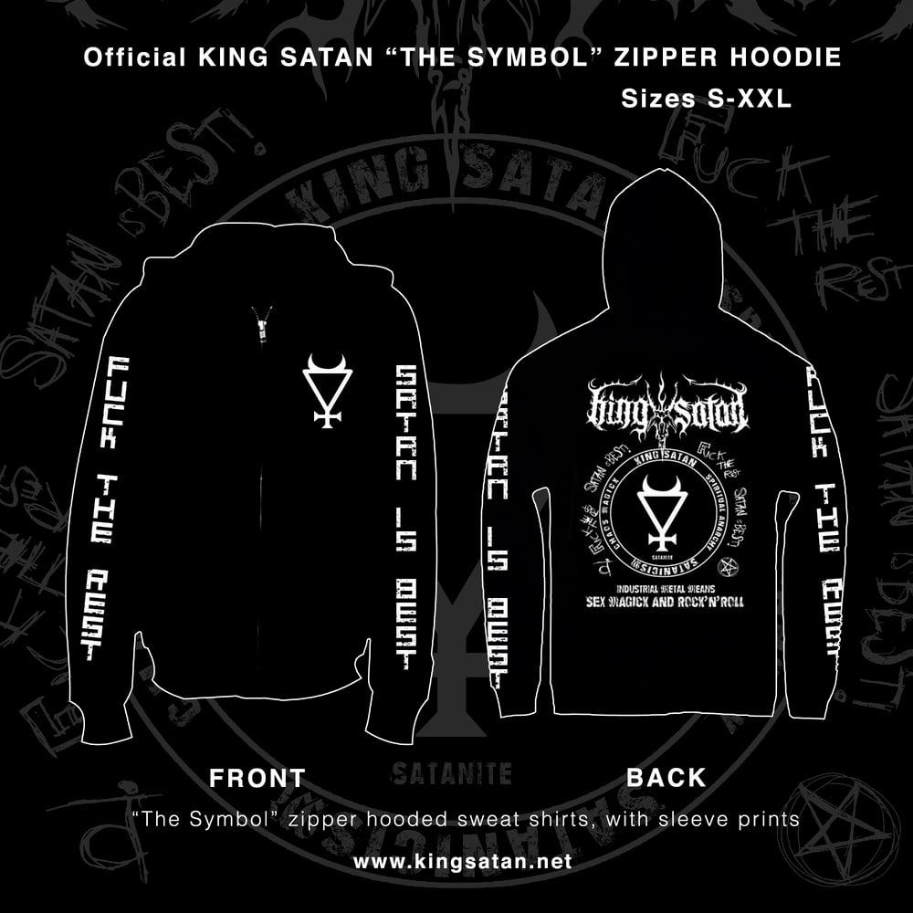 Image of King Satan The Symbol Zipper Hooded Sweatshirt