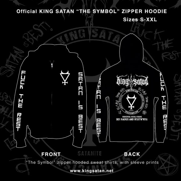 Image of King Satan The Symbol Zipper Hooded Sweatshirt