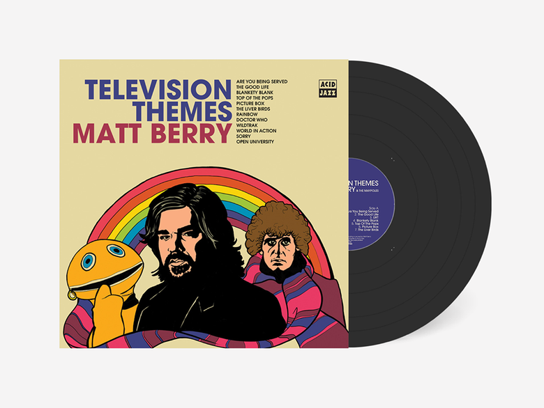 Image of Matt Berry Television Themes LP (Black, Signed)