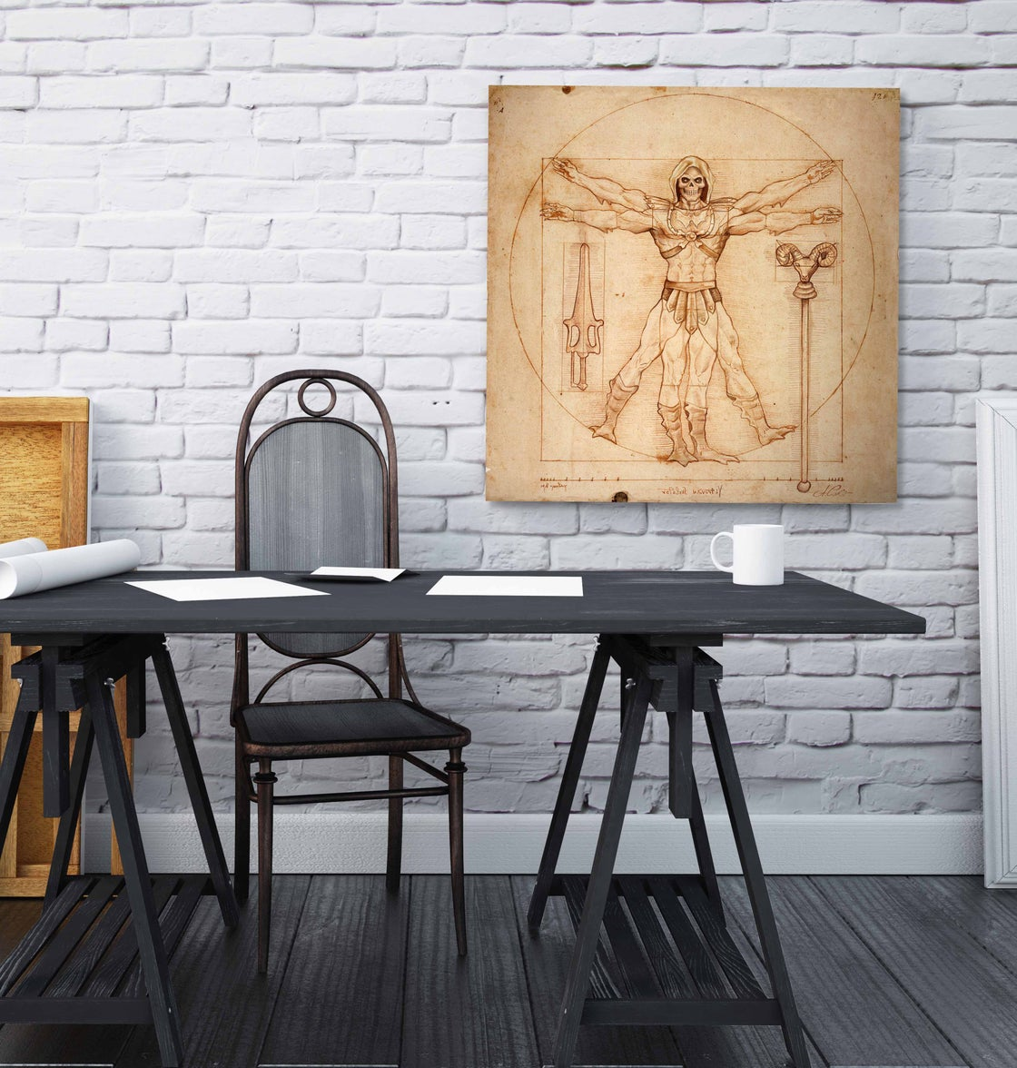 Image of VITRUVIAN SKELETOR  limited edition of 30 Giclèe print on fine art canvas