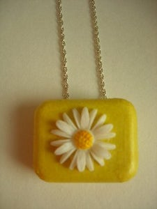 Image of Daisy Chain Miniature Music Box Pendant (Sunshine Yellow)