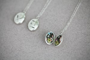 Image of *NEW* Personalised Barleycorn engraved lockets (in silver or 9ct gold)