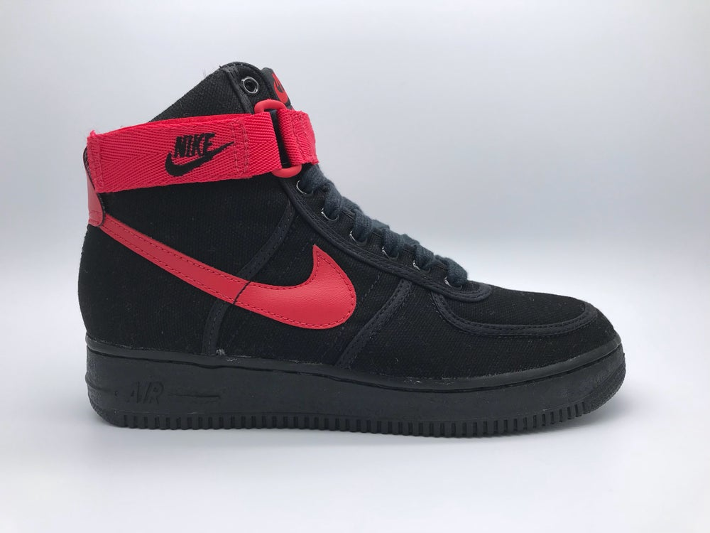 "new style fce9d 9a04e Image of NIKE AIR FORCE 1 HIGH CANVAS ""TRUE RED"""