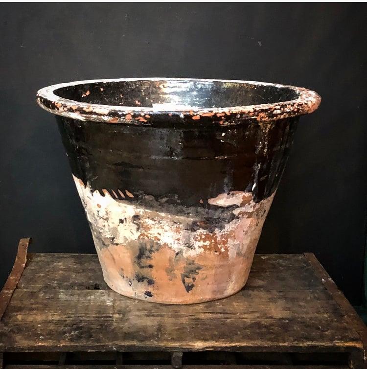 Image of 19thc Milk Crock