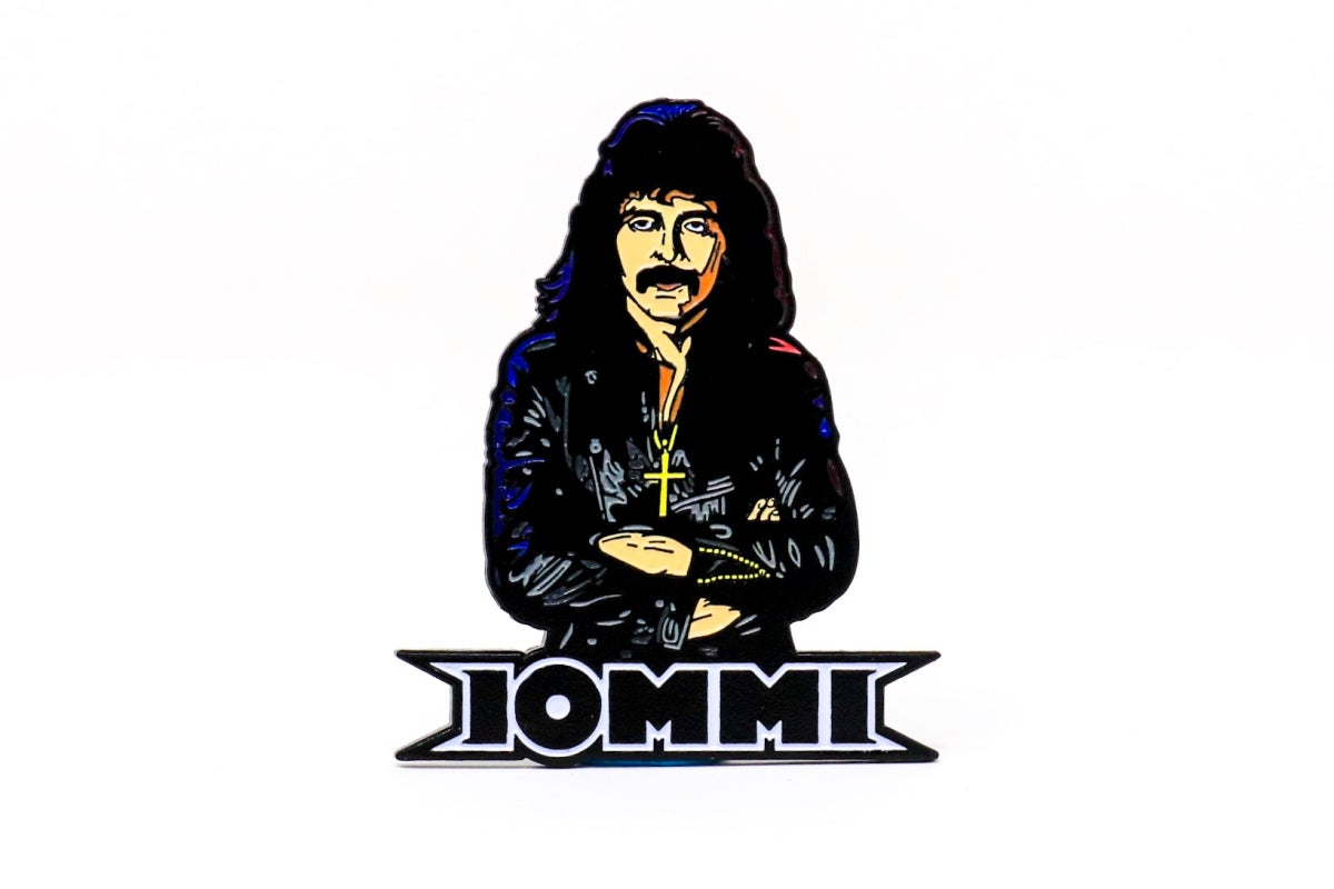 Image of Tony Iommi 80's Enamel Pin