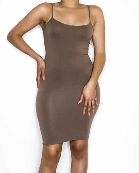 Image of the barely there dress - mocha