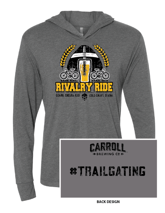 Image of Vintage Charcoal Rivalry Ride Hooded Long Sleeve T