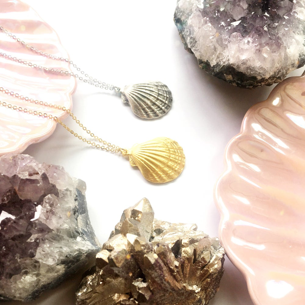 Image of Ariel Shell Pendant - 2 lengths available