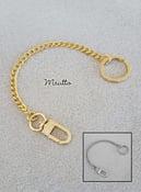 Image of Bag Accessory Charm Chain - Gold or Nickel - Mini Classy Curb Diamond Cut - #16C LG Clasp + Keyring
