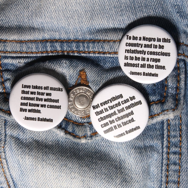 Image of James Baldwin Button Pack