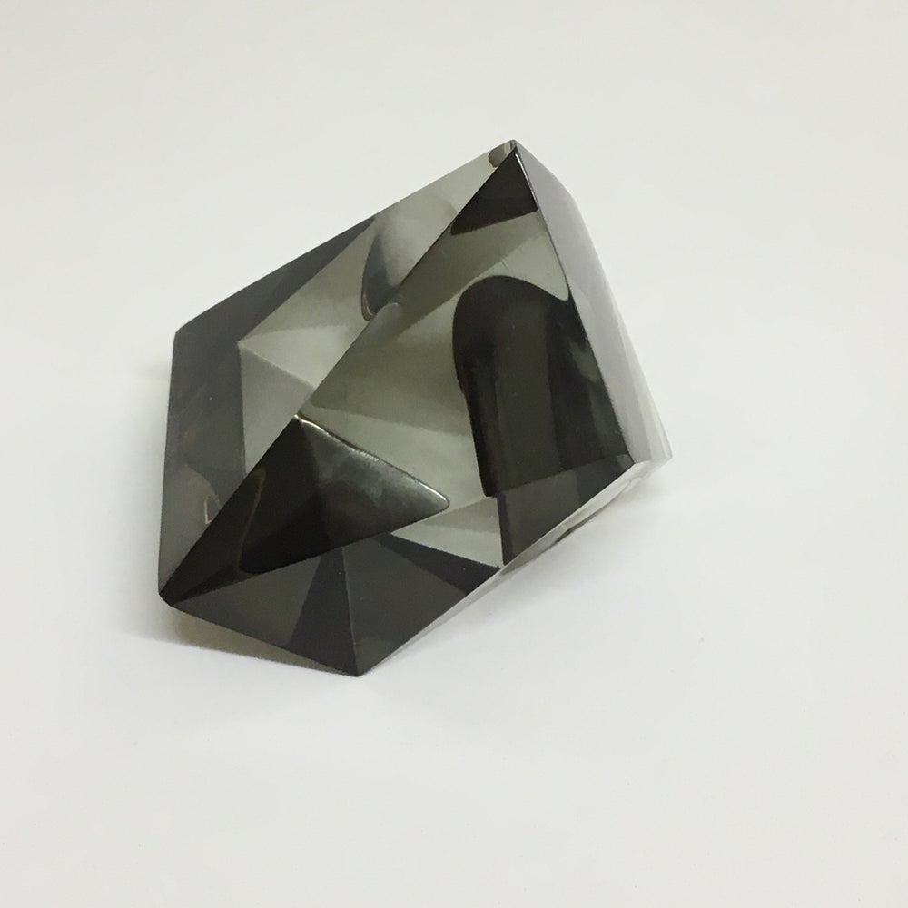 Image of XL Kaleidoscope Faceted  Ring Gun Metal
