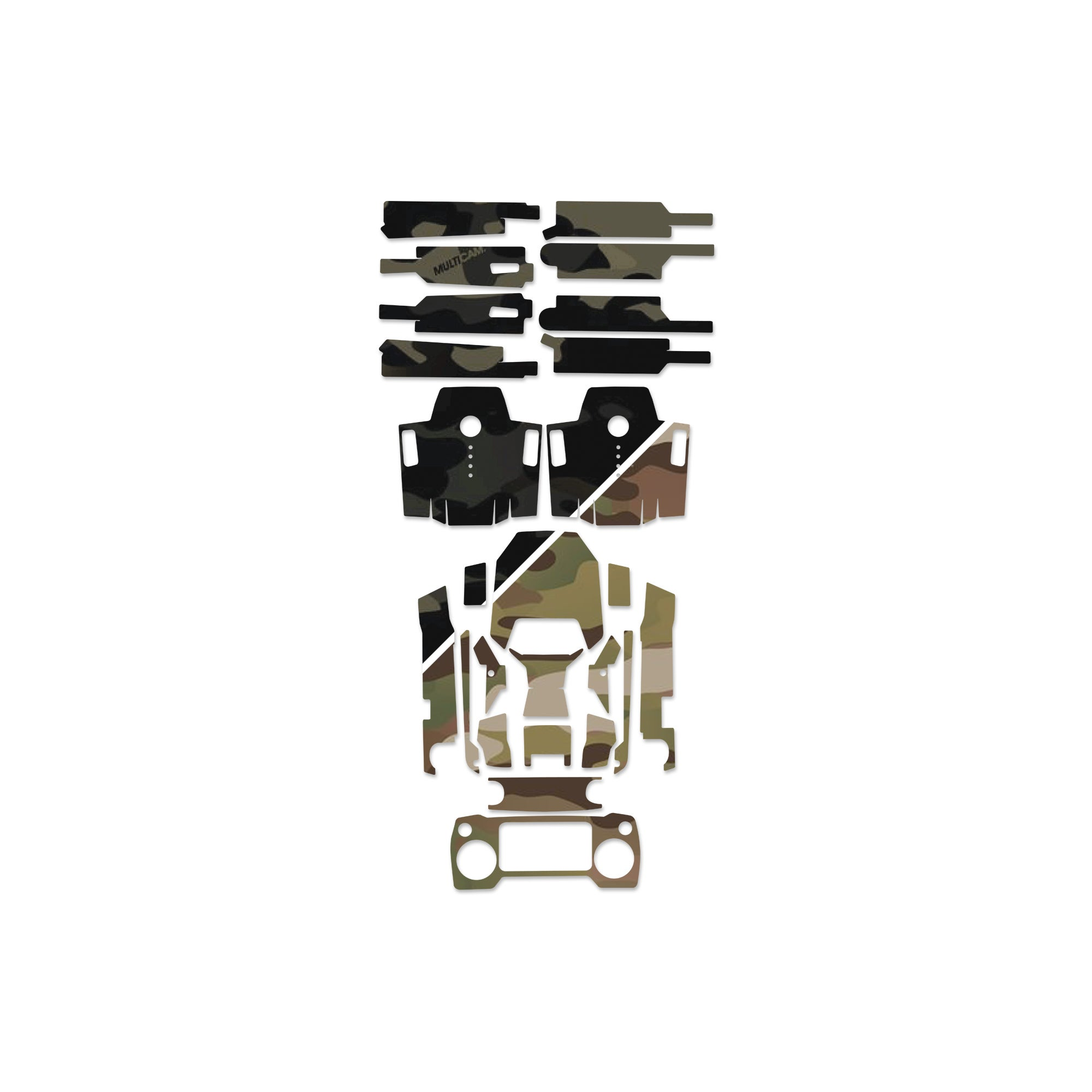 daf1a68a74e 3M Official Multicam DJI Mavic 1/2 - Zoom - Air - Spark Skin | Tam