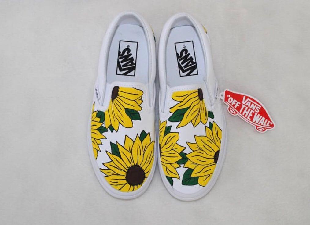 vans sun flowers
