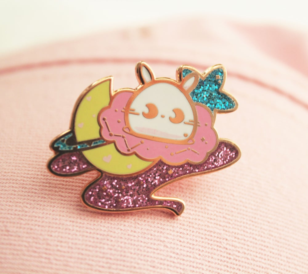 Image of SECONDS: Baby Space Bun enamel pin