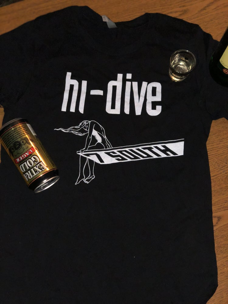 Image of Black Hi-Dive Logo Tee