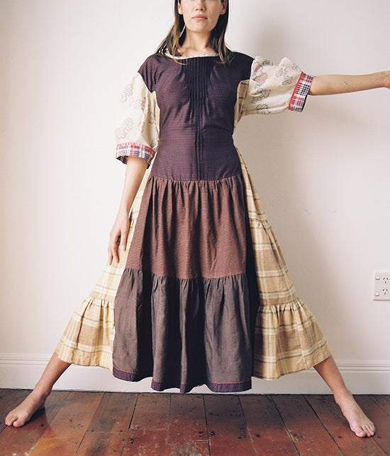 Image of Patchwork Ragdoll Dress #5