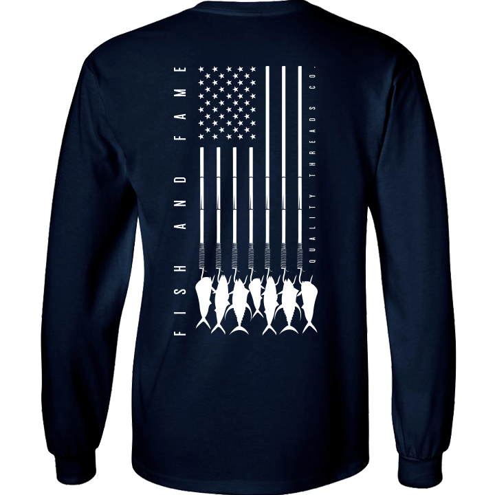 Image of US-747 Gaff Pocket L/S Tee (navy)
