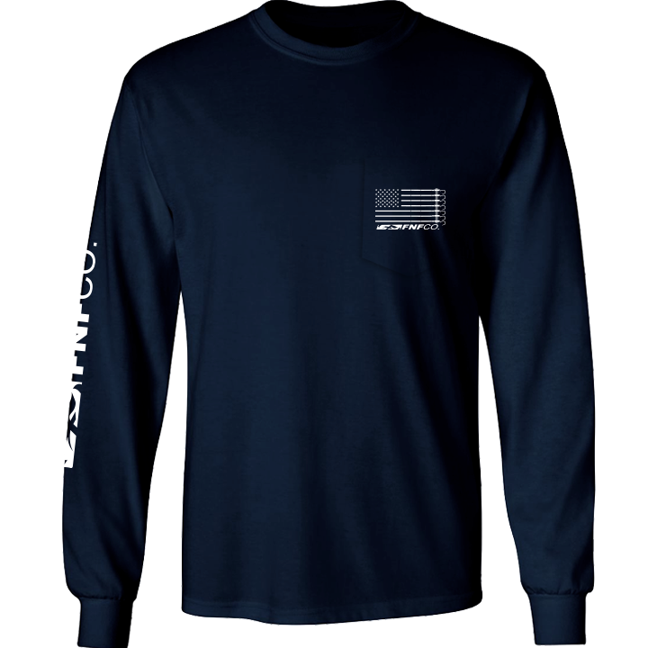 Image of US-747 Pocket Tee LS (navy)