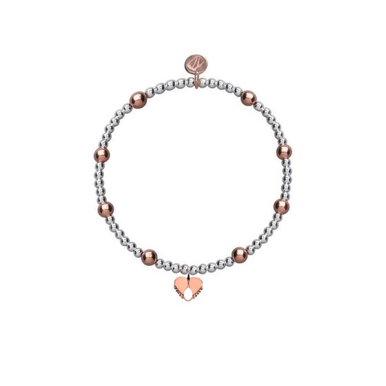 Image of Rose Gold & Silver Angel Love Beaded Bracelet