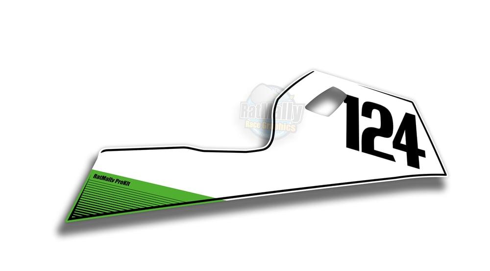 Image of Race Belly-pan Number Boards to fit Kawasaki Ninja 400 2017>
