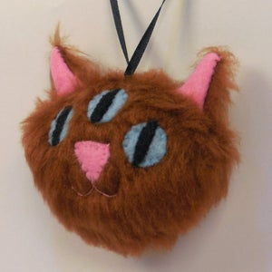 Image of Three eyed kitty ornament - Ginger