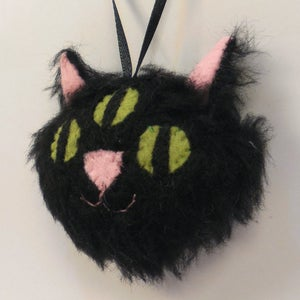 Image of Three Eyed Kitty ornament - black
