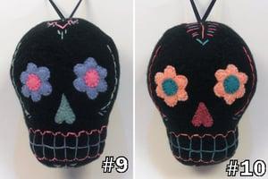 Image of Sugar Skull plush ornaments - Black