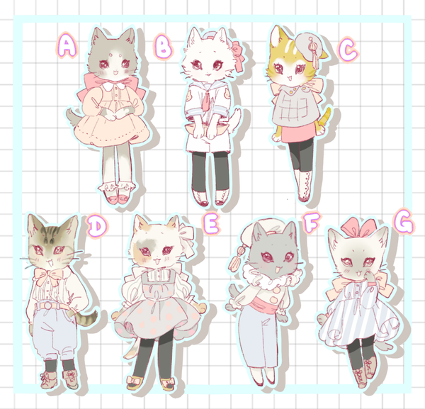 "Image of Mini Kitty 2"" Charms"