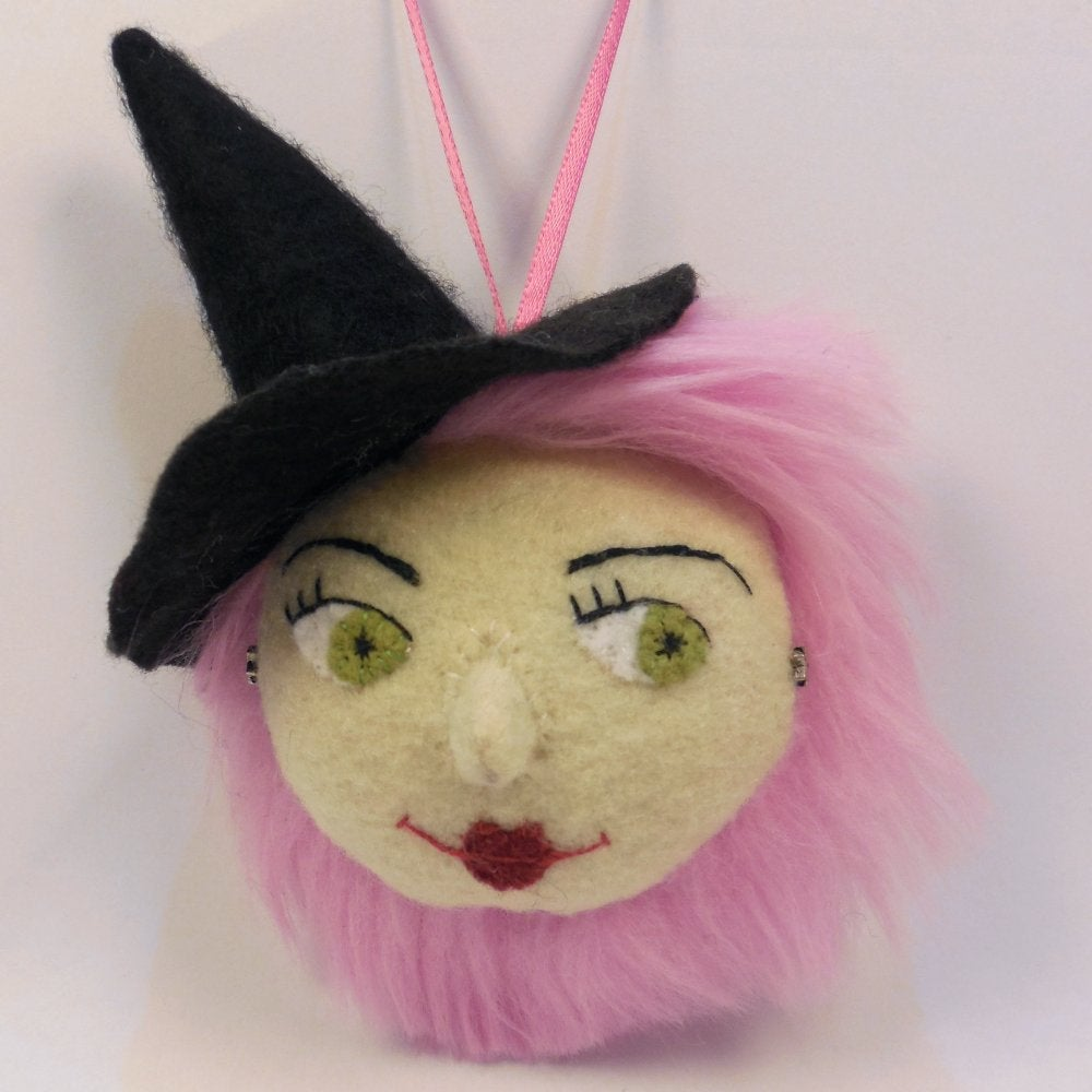 Image of Pretty witch ornament - pink hair