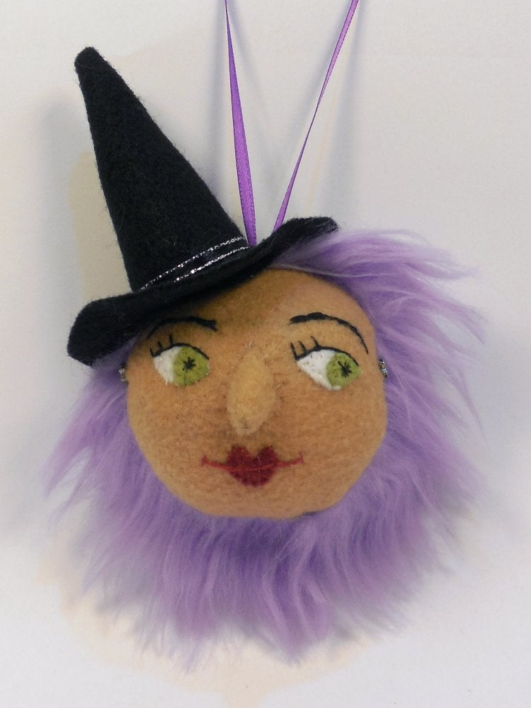 Image of Pretty witch ornament - purple hair