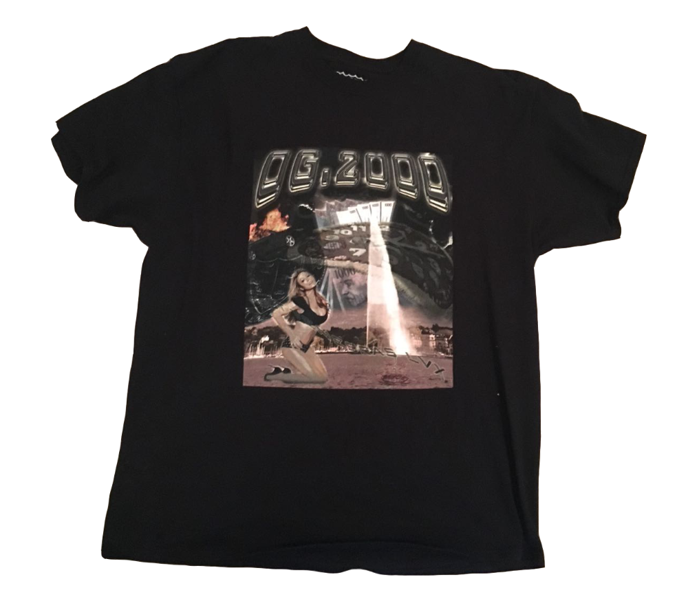 "Image of *** OG.2000 ""MARIAH"" T-SHIRT *** BLACK"