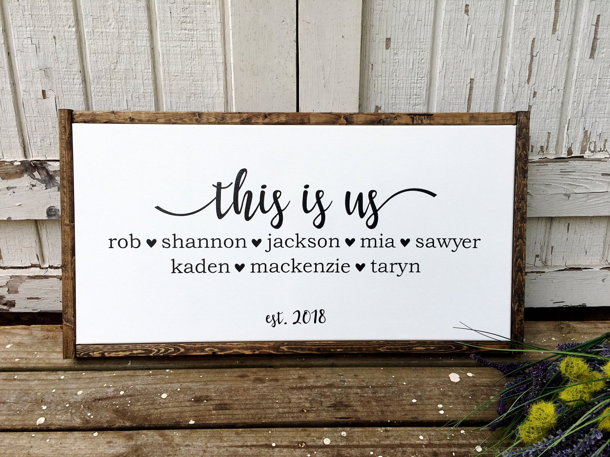 This Is Us Family Sign The Wooden Frame