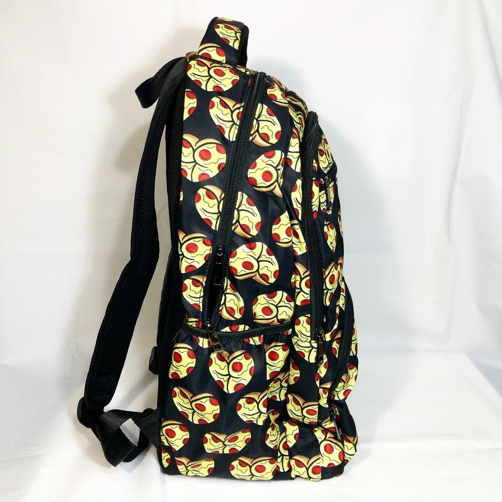 Image of Pizza dat ass waterproof travel backpack. limited to 50