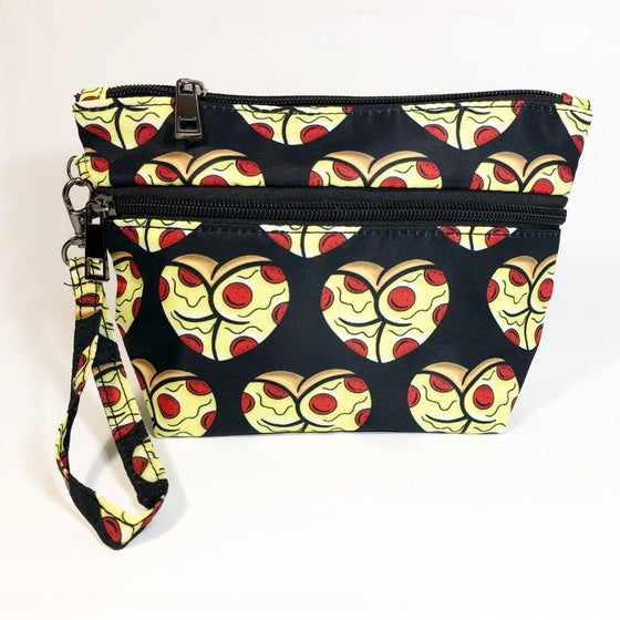 Image of Pizza dat ass makeup/all purpose handbag. limited to only 50