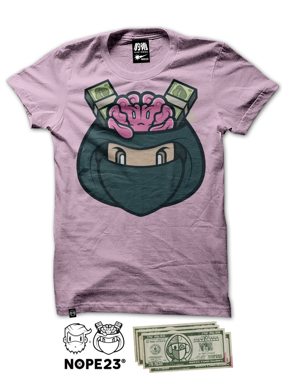 Image of HEDBOY X NOPE - MONEY HED PINK TEE
