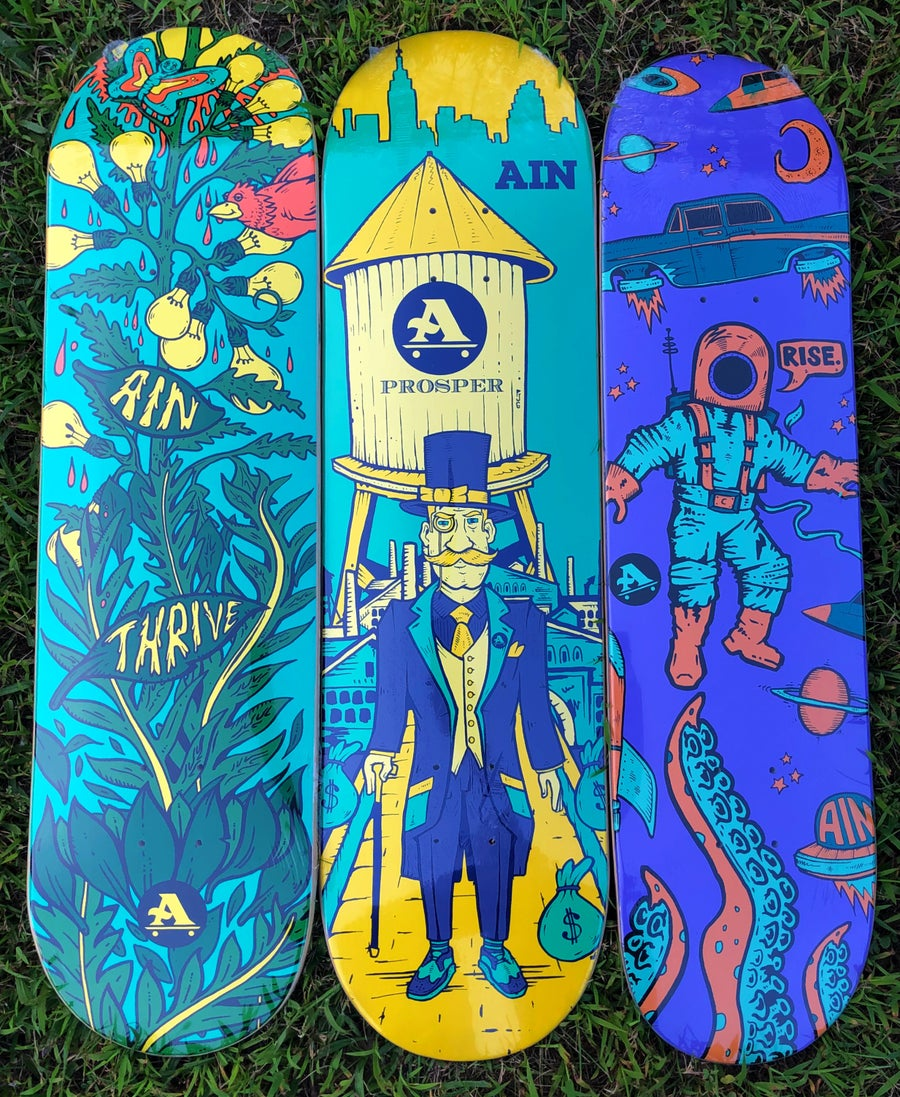 Image of Thrive, Prosper, Rise Skateboards