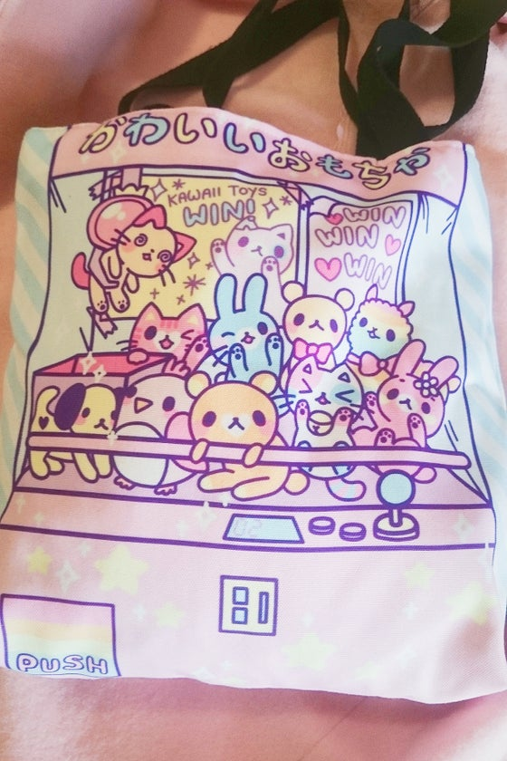 Image of UFO Catcher Cotton Tote Bag by The Decora Factory