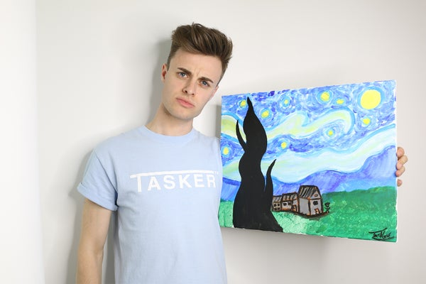 Image of Blue 'TASKER' Tee